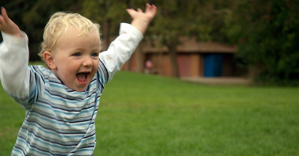 Happy Toddlers Running