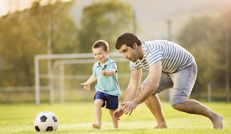 Ball Kicking Toddler