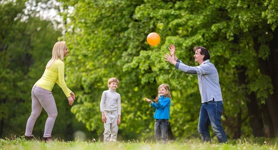 Toddler Throwing a Balls