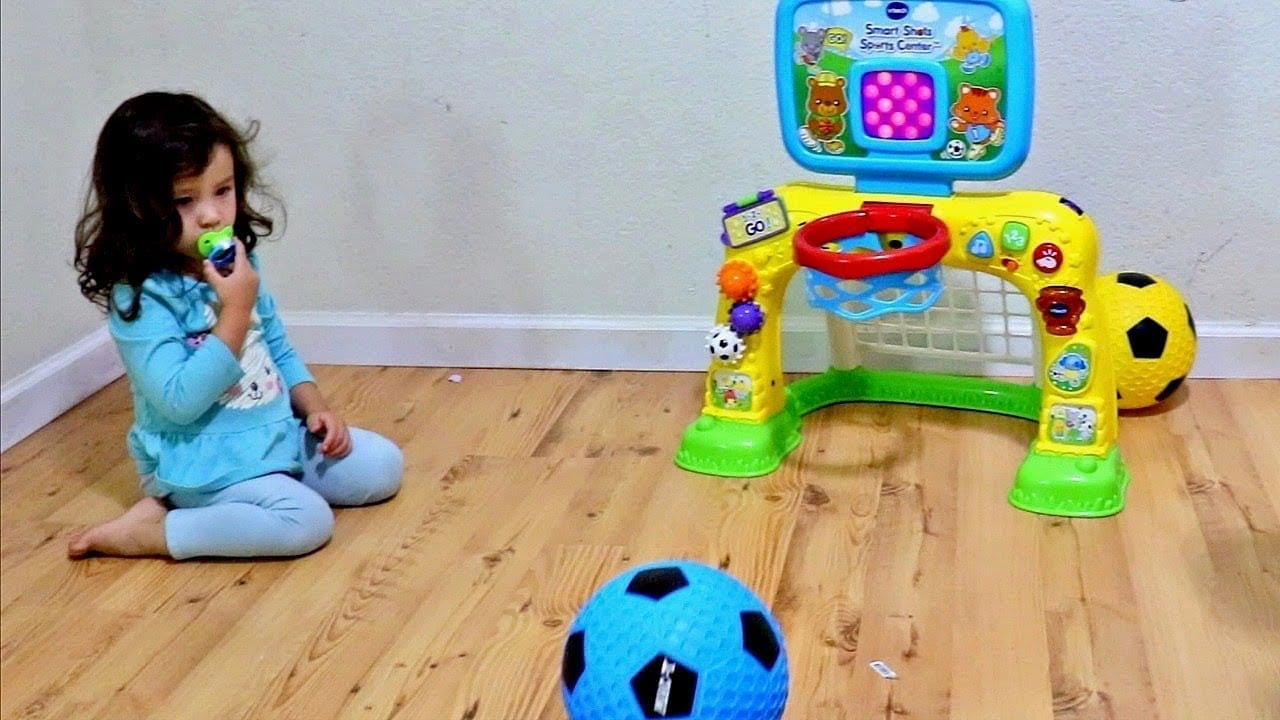 Toddler doing Sports