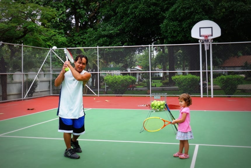 tennis toddler