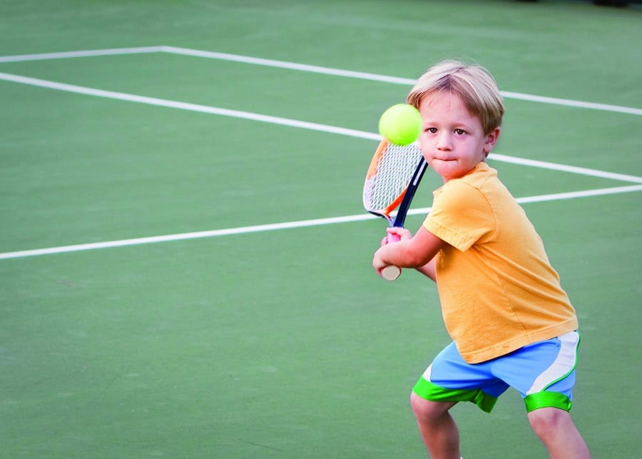 5 year old is the best for real tennis