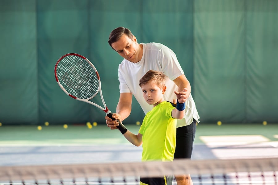 Teaching Tennis to your children