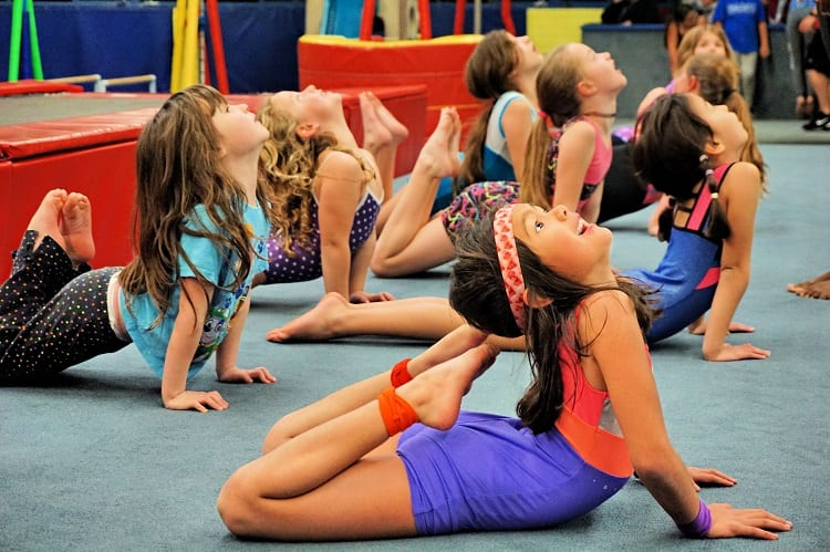 Kids In Gymnastic Group