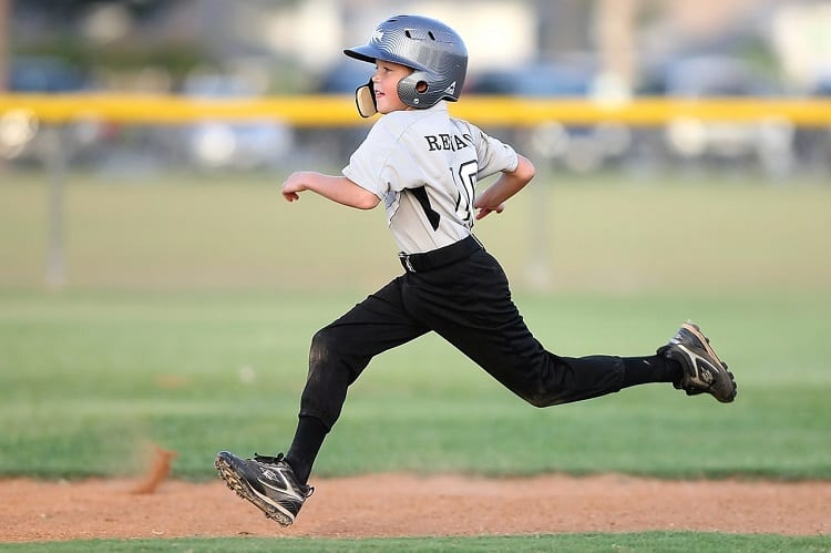 Young Baseball Player Running