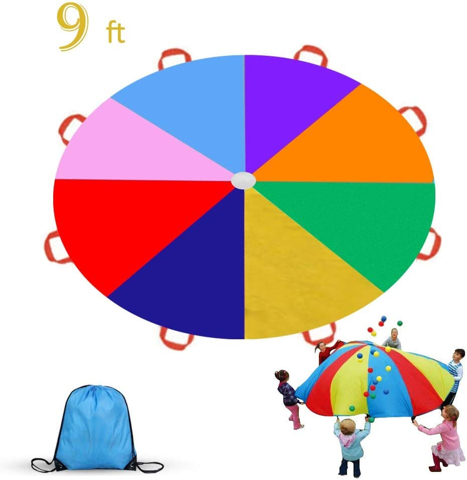 toddler parachute play