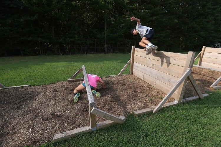 terrain for mud run in backyard