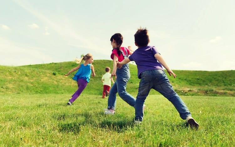 kids playing rainbow tag