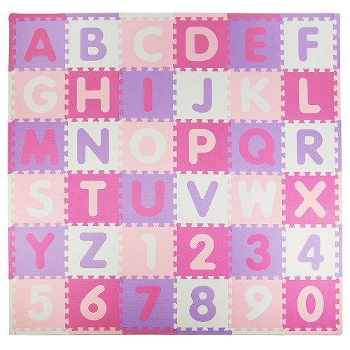Tadpoles Soft EVA Foam 36 Piece ABC Playmat Set